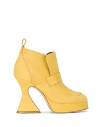 Sies Marjan Yellow Suede Ellen 110 Platform Boots