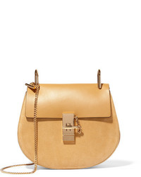 Chloé Drew Small Leather And Suede Shoulder Bag Yellow