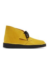 Clarks Originals Yellow Suede Coal Desert Boots