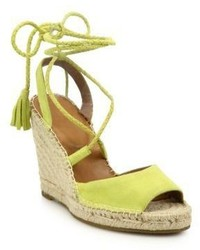 Joie Phyllis Suede Lace Up Espadrille Wedge Sandals