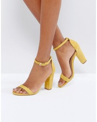 Aldo Myly Suede Barely There Block Heeled Sandals