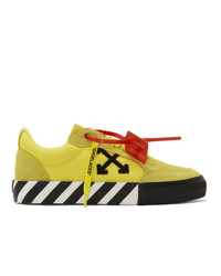 Off-White Yellow Low Vulcanized Sneakers