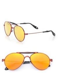 Givenchy 56mm Metal Aviator Sunglasses