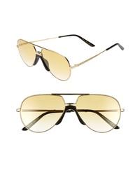 Gucci 60mm Metal Aviator Sunglasses