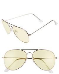 67mm Colored Aviator Sunglasses Yellow