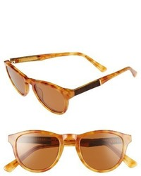 Shwood Ace 48mm Sunglasses Amber Elm Brown Polar