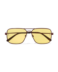 Stella McCartney Aviator Style Metal And Tortoiseshell Acetate Sunglasses