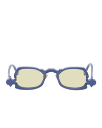 Grey Ant Blue Arsenic Oval Sunglasses