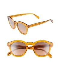 Oliver Peoples Boudreau La 48mm Round Sunglasses