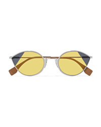 Fendi Cat Eye Silver Tone Sunglasses