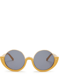 Marni Crop Round Frame Sunglasses