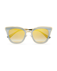 Jimmy Choo Crystal Embellished Cat Eye Acetate Sunglasses