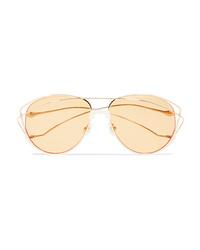 For Art's Sake Dark Eyes Cat Eye Gold Tone Sunglasses