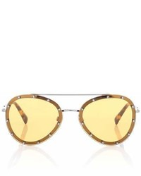 Valentino Embellished Aviator Sunglasses