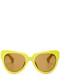 Linda Farrow For Dries Van Noten Cat Eye Acetate Sunglasses
