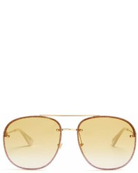 Gucci Glitter Embellished Aviator Sunglasses
