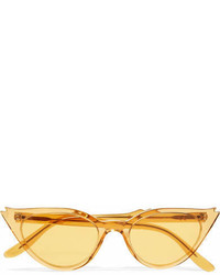 Illesteva Isabella Cat Eye Acetate Sunglasses Yellow