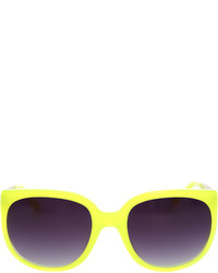 Linda Farrow X Matthew Williamson Neon Yellow Cat Eye Sunglasses