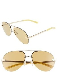 Karen Walker Love Hangover 60mm Aviator Sunglasses Crazy Tortoise Gold