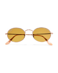 Ray-Ban Oval Frame Gold Tone Sunglasses