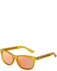 Gucci Plastic Square Sunglasses Yellow
