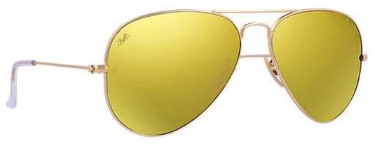 ray ban aviator amarillas