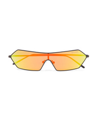 Poppy Lissiman Razr D Frame Metal Mirrored Sunglasses