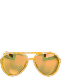 Linda Farrow Reflective Aviator Sunglasses