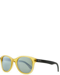 Ray-Ban Round Acetate Sunglasses Yellowblue