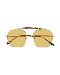 Illesteva Samui Round Frame Tortoiseshell Acetate And Metal Sunglasses