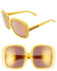 Karen Walker Marques 55mm Square Sunglasses Crazy Tortoise Gold