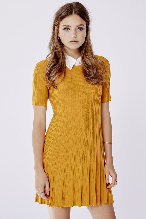 49dfb0afc143 ... Yellow Sweater Dresses Urban Outfitters Cooperative Grace Swingy Sweater  Dress ...
