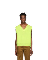 Acne Studios Yellow Keste V Neck Sweater