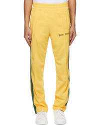 Palm Angels Yellow Green Striped Classic Track Pants