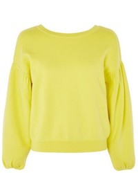 Topshop Balloon Sleeve Sweatshirt
