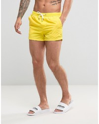 Pull&Bear Swim Shorts In Yellow