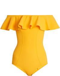 Lisa Marie Fernandez Mira Flounce Bonded Swimsuit