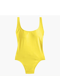 J.Crew Plunging Scoopback One Piece Swimsuit In Italian Matte