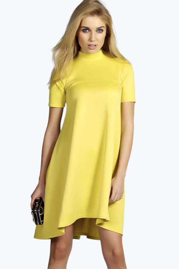 High Neck Swing Dress