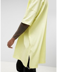 682cc2df9ba4 Asos Extreme Oversized Super Longline T Shirt In Acid Yellow, $26 ...