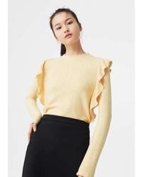 Mango Ruffle T Shirt