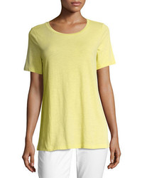 Eileen Fisher Short Sleeve Slubby Jersey Tee