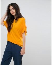 Vila Tie Sleeve T Shirt