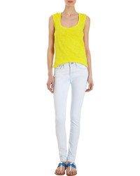 Thomas Laboratories Atm Anthony Thomas Melillo Slub Sleeveless Top Yellow