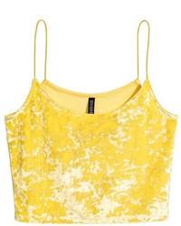 H&M Crushed Velvet Camisole Top