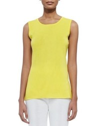 Misook Sleeveless Long Tank Yellow