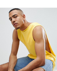 ASOS DESIGN Tline Vest With Extreme Dropped Armhole In Yellow
