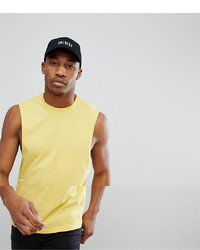 ASOS DESIGN Vest With Dropped Armhole In Yellow
