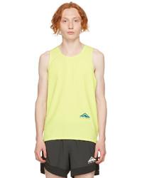 Nike Yellow Grey Dri Fit Rise 365 Tank Top