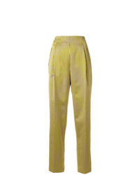 Yellow Tapered Pants